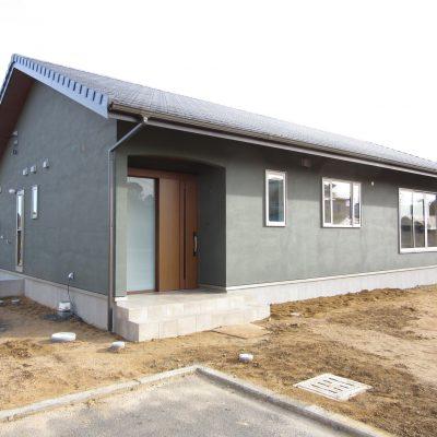最近流行りの平屋の家